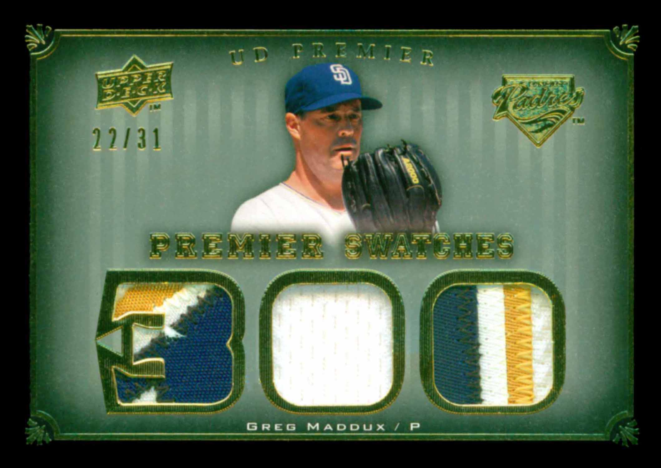 2008 Upper Deck Premier Swatches Jersey Number